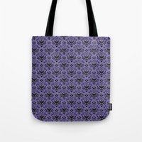 haunted mansion Tote Bags featuring Haunted Mansion Wallpaper by MiliarderBrown
