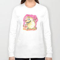 guinea pig Long Sleeve T-shirts featuring Guinea Pig Monster by Scalmato Studio