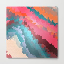 Abstract geometric background with squares Metal Print