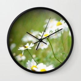 Summer Daisy Wall Clock