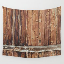 Aged Wooden Fence Wall Tapestry