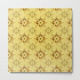Gold on Gold Ornament Pattern Metal Print