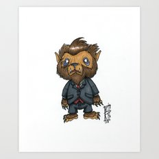 Bugbear has a job interview Art Print