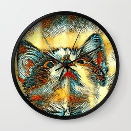 AnimalArt_Cat_20170914_by_JAMColorsSpecial Wall Clock