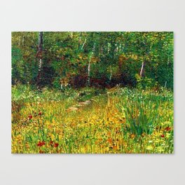 Park at Asnieres in Spring by Vincent van Gogh Canvas Print