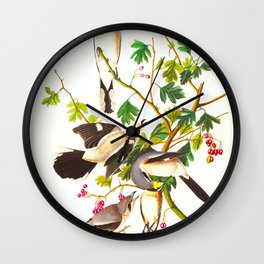 Great Cinereous Shrike, or Butcher Bird Wall Clock