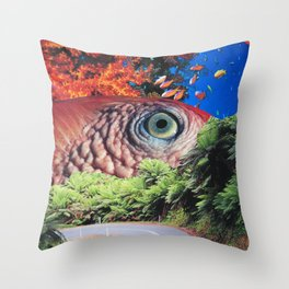 Keep Your Eye on the Road Throw Pillow