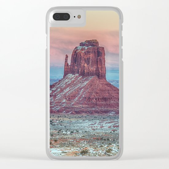 MONUMENT VALLEY AT SUNSET Clear iPhone Case