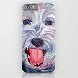 The Westie Kirby Dog Portrait iPhone Case