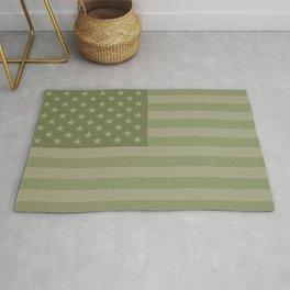 Camo Stars and Stripes – USA Flag in Military Camouflage Colors [FalseFlag 1] Rug