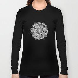 Modern boho Love Mandala pattern - Terracotta cream Long Sleeve T-shirt