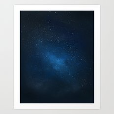 Stars and space Art Print