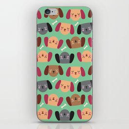 Dogs Love Bones I iPhone Skin