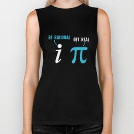 Be Rational Get Real Funny Math Joke Biker Tank
