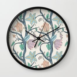 botanical pastel Wall Clock