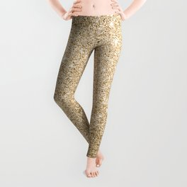 Modern abstract elegant chic gold glitter Leggings