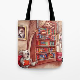Koala and Girl Naturalists Tote Bag