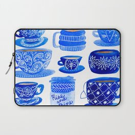 Coffee Mugs and Tea Cups - A study in blues Laptop Sleeve