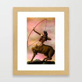 centaur hunter Framed Art Print
