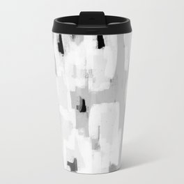 Malina - abstract painting black and white grey minimalist decor gifts for trendy design lovers Travel Mug