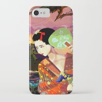 kitsune iPhone & iPod Cases featuring Kitsune by Sandpaperdaisy