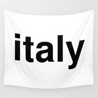 italy Wall Tapestries featuring italy by linguistic94