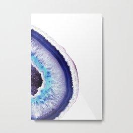 Violet Agate Art 2 Metal Print