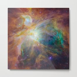 Universe Nebula in Rainbow Color Metal Print