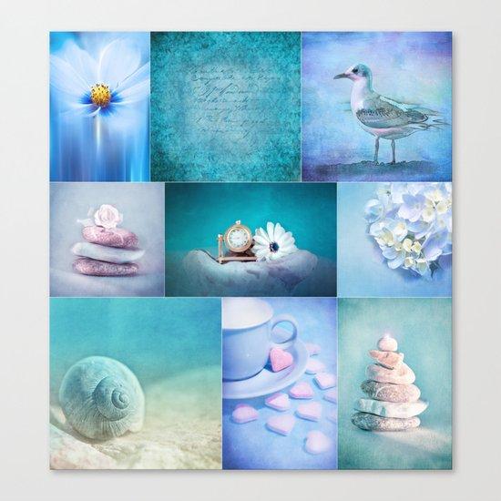 COLLECTION BLUE Canvas Print