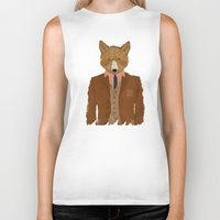 mr fox Biker Tanks featuring mr fox by bri.buckley