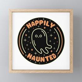 Happily Haunted Framed Mini Art Print