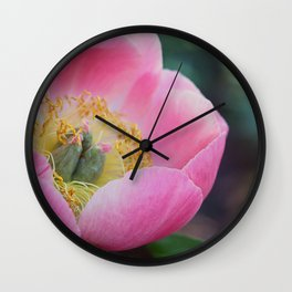 Peony Intoxication Wall Clock