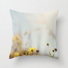 The sunbathers Throw Pillow