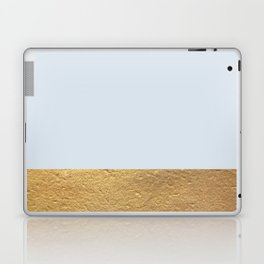 Color Blocked Gold & Periwinkle Laptop & iPad Skin