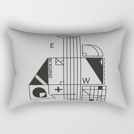 monochrome minimalism Rectangular Pillow