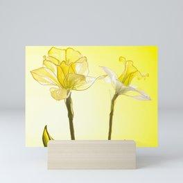 Yellow Botanical Summer Blossom Mini Art Print