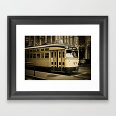 San Francisco Street Car Framed Art Print