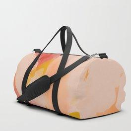 Abstract Peach Watercolor Duffle Bag