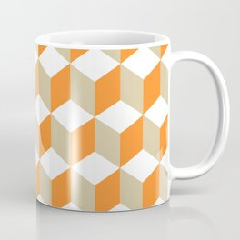 Diamond Repeating Pattern In Russet Orange and Grey Coffee Mug