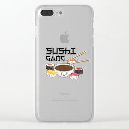 Sushi Gang Kawaii Japanese Sashimi Maki Nigiri Soy Sauce Clear iPhone Case