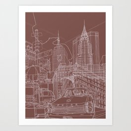 New York! Clay Art Print