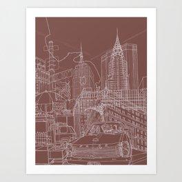 New York! Clay Art Print
