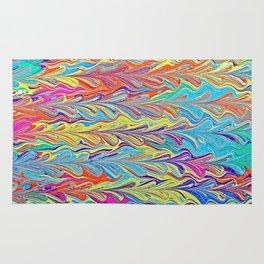 Rainbow Heartfall Water Marbling Rug