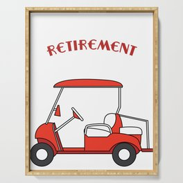 """""""My Retirement Vehicle Funny Golf Cart"""" funny and hilarious tee design made for everyone! Serving Tray"""