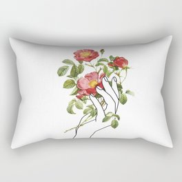 Flower in the Hand II Rectangular Pillow