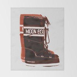Moon Boots Throw Blanket