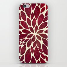 Petal Burst - Maroon iPhone & iPod Skin