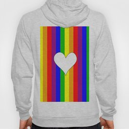 Gay flag with the colors of the rainbow with a heart Hoody