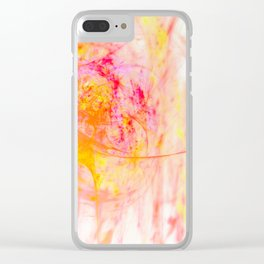 My heart fountains color Clear iPhone Case