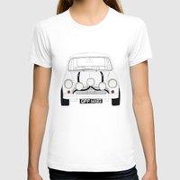 mini cooper T-shirts featuring The Italian Job White Mini Cooper by Martin Lucas